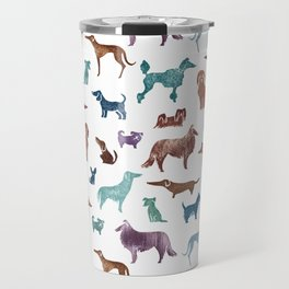 Doggies all over Travel Mug