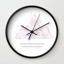Move Mountains Wall Clock