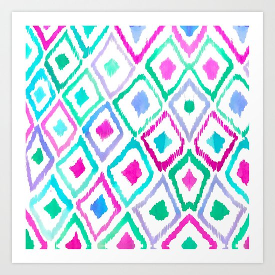 Watercolour Ikat II Art Print