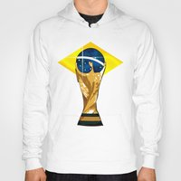 brazil Hoodies featuring Brazil 2014 by The Vector Studio