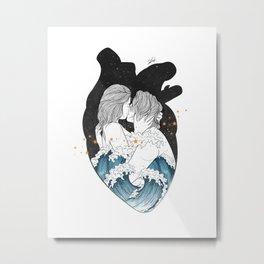 The ocean heart. Metal Print