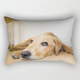Labrador Retriever lying on the floor Rectangular Pillow