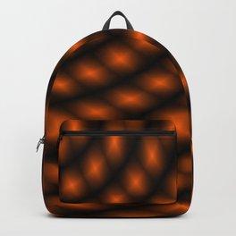 Strange Orange and Black Pattern Backpack