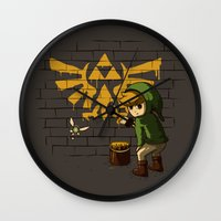 banksy Wall Clocks featuring Link Banksy by le.duc