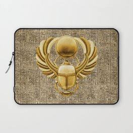 Gold Egyptian Scarab Laptop Sleeve
