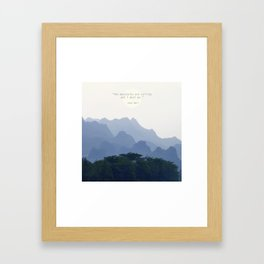 Mountains calling Framed Art Print
