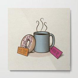 Breakfast in Wonderland Metal Print