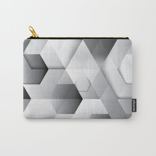 Black geometrics Carry-All Pouch
