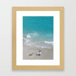 Morning on Clifton Beach Framed Art Print