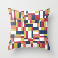matisse Throw Pillows featuring Map Matisse #1 by Project M