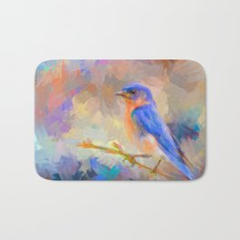 Bring On The Bluebirds Bath Mat