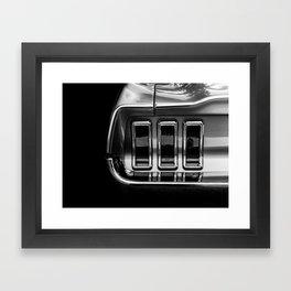 classic mustang light Framed Art Print