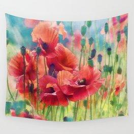 Poppy Parade Wall Tapestry
