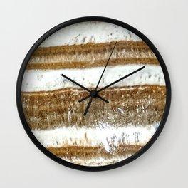 Banded Aragonite Wall Clock