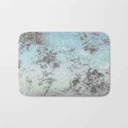 Blue gray abstract pattern Bath Mat