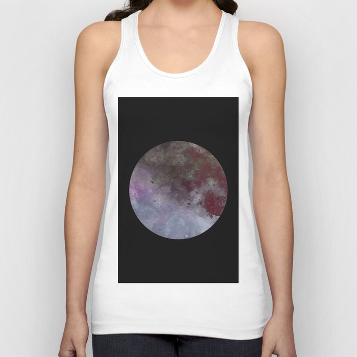 Lonely planet - Space themed geometric painting Unisex Tank Top