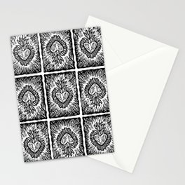 Sacred heart pattern Stationery Cards