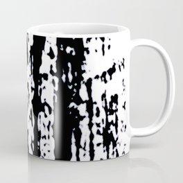Blank: a minimal black and white linoprint Coffee Mug
