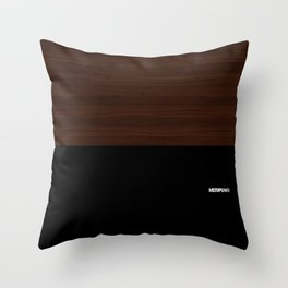 Modern Minimal Collection / Dark Throw Pillow
