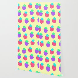 Strawberry Illustration Fruit Pattern - Words for a Lovely Couple from Colorful Strawberries Wallpaper