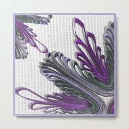 Purple Linen quilling flower Metal Print