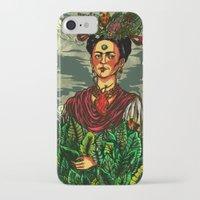 frida kahlo iPhone & iPod Cases featuring Frida Kahlo by Nicolae Negura