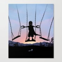 magneto Canvas Prints featuring Magneto Kid by Andy Fairhurst Art