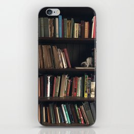 The Bookshelf in the Library, portrait, vibrant iPhone Skin