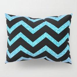 Black Chevron On Glitter Gradient Pillow Sham