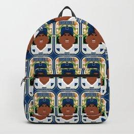 Baseball Blue Pinstripes - Deuce Crackerjack - Aretha version Backpack