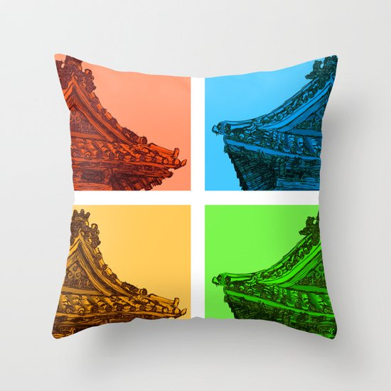 a few reflections on an elegant curve Throw Pillow