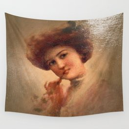 Vintage Lady 03 Wall Tapestry