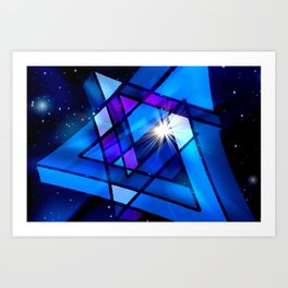 Raumgeometrie. Art Print