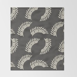When the leaves become wings - Gray and beige Throw Blanket