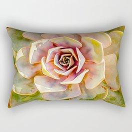 Hen and Chick Cactus Rectangular Pillow