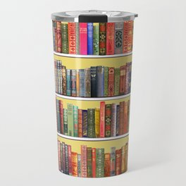 Christmas books antique vintage library Travel Mug