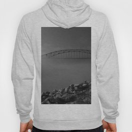Julian Dubuque Bridge and the Mississippi River Hoody