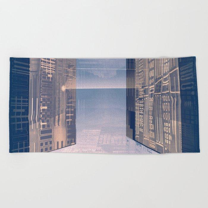 Room -A- Post Biological Era Beach Towel