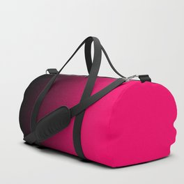 Modern Black and Bright Pink Ombre Duffle Bag