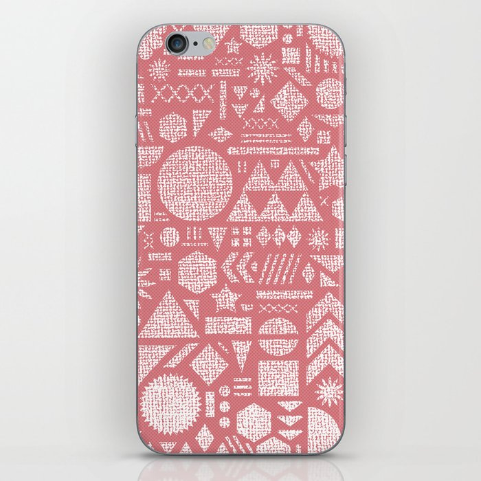Modern Elements with Bubble Gum. iPhone Skin