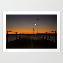 Wyndham Pier. Art Print