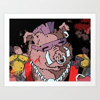 bebop Art Prints featuring Bebop by Adam Newacheck