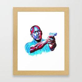 Denzel equalizes colourfully Framed Art Print