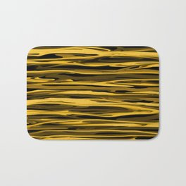 Honey Yellow Abstract Drizzle Bath Mat
