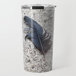 Feather in the wind Travel Mug