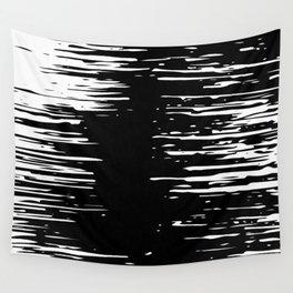 Splash White on Black Wall Tapestry