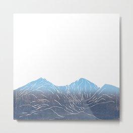 Colorado Mountain Longs Peak and Mount Meeker Metal Print