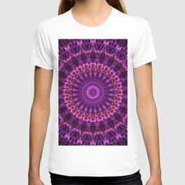 Dark and light violet tones mandala T-shirt