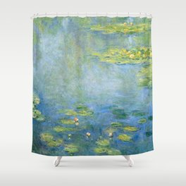 Water Lilies 1906 by Claude Monet Shower Curtain
