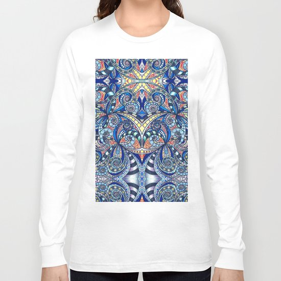 Drawing Floral Zentangle G7B Long Sleeve T-shirt